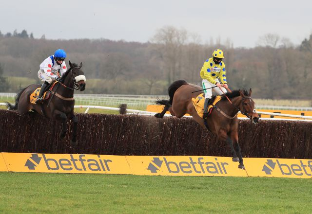 Secret Investor winning the Grade 2 Denman Chase