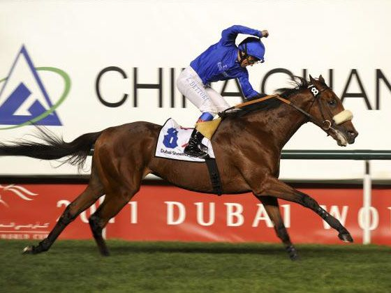 Rewilding winning the G1 Dubai Sheema Classic
