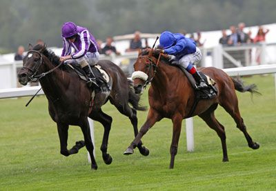 REWILDING (Right) gets up to beat SO YOU THINK in the G1 Prince of Wales's Stakes
