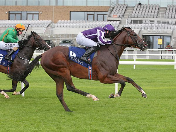 St Mark's Basilica winning at The Curragh