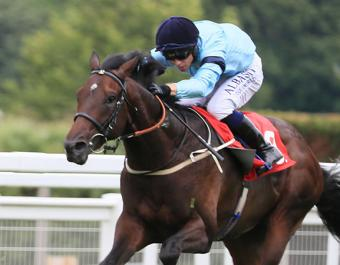 Royal Patronage broke his maiden by five lengths at Epsom to claim the 242nd Book 1 Bonus