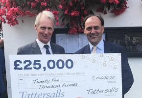 Tattersalls Chairman Edmond Mahony and Shadwell Estates' Angus Gold