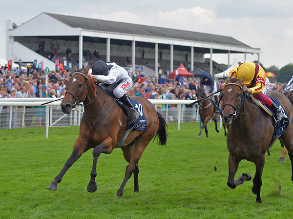 Marsha winning the G1 Nunthorpe Stakes at York