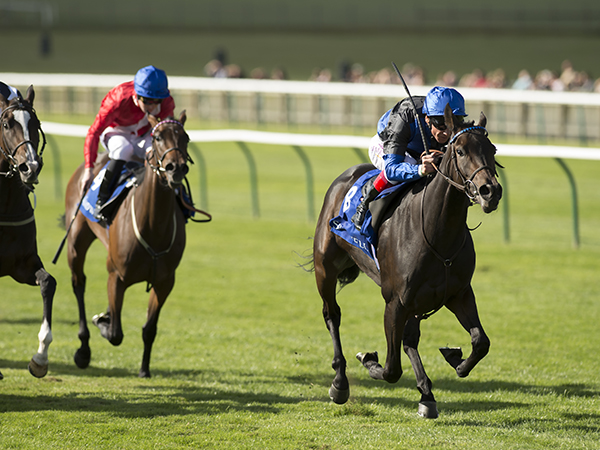 Spain Burg winning the G2 Rockfel Stakes at Newmarket