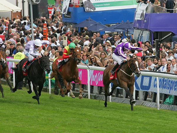 Lady Gloria winning the Gr.3 Princess Elizabeth Stakes at Epsom