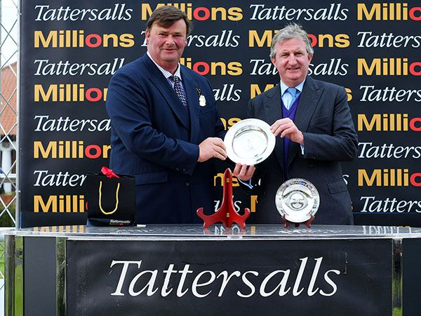 Tattersalls Director Todd Watt and Godolphin's John Ferguson