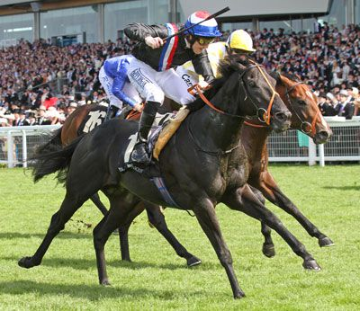 SOCIETY ROCK winning the G1 Golden Jubilee Stakes