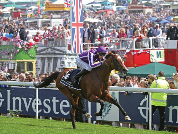 St Nicholas Abbey winning the G1 Coronation Cup on Derby Day