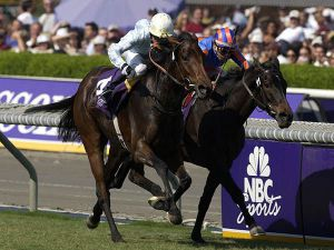 Islington Winning the G1 Breeders Cup Filly & Mare Turf