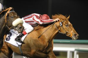 Burano winning at Meydan