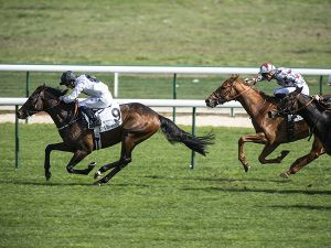 Chilean winning the Group 3 Prix La Force at Longchamp