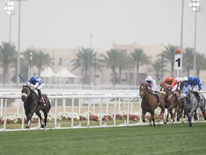 Chopin winning the Group 1 Emir's Trophy