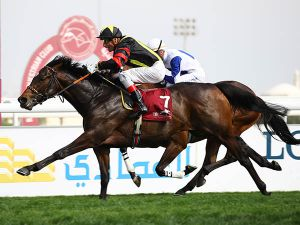 Guineas Breeze Up purchase GLOBAL SPECTRUM winning the G2 Al Biddah Mile in Qatar.