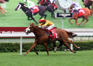 Gold-Fun Winning the G2 Jockey Club Mile