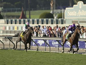 Highland Reel streets ahead in the G1 Breeders' Cup Turf (Copyright: Edward Whitaker)