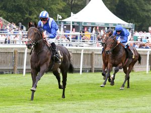 Khaadem winning at Newmarket