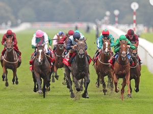Kingston Hill Winning the G1 St Leger