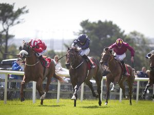Landofhopeandglory winner his Maiden at Galway