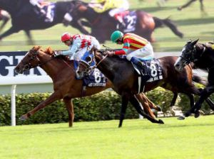Red Cadeaux winning the HK Vase