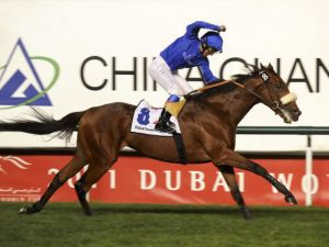 Rewilding winning the G1 Dubai Sheema Classic