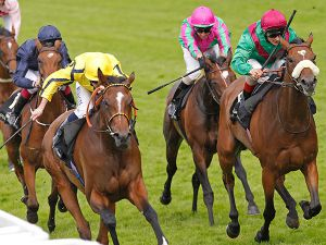 RIZEENA winning the G1 Coronation Stakes