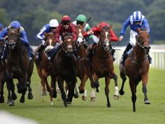 Samharry (Far right) winning his maiden.