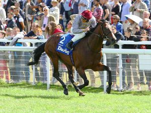 Shalaa Winning the G1 Prix Morny (Copyright Scoopdyga)