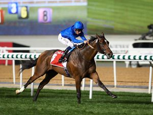 Tryster Winning the G1 Jebel Hatta at Meydan (Photo: ERA)